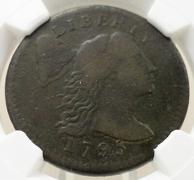 1795 capped Liberty large cent plain edge NGC graded fine F details, 4689109-005