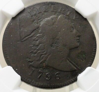 1796 capped Liberty large cent NGC graded fine F details, corrosion, 4689109-006