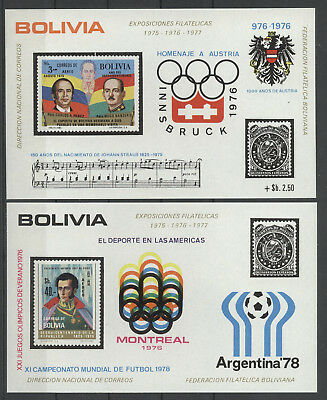 Olympiade 1976, Olympic Games, Sport - Bolivien - 5 Bl. ** MNH