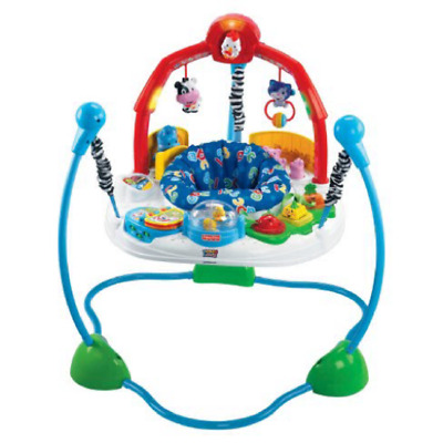 Blue adjustable Fisher-Price Laugh & Learn Exerciser Jumperoo Machine Washable