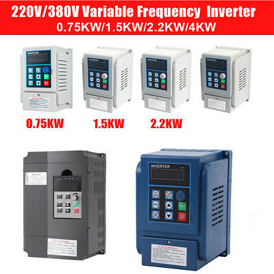 VFD Single Phase/3-Phase Variable Frequency Drive Inverter CNC Motor AC 220/380V