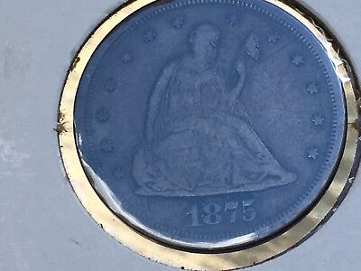 1875-S 20C liberty seated good coin but it has been around