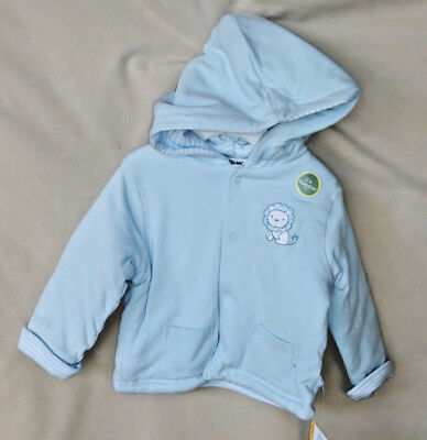 """LITTLE ME 100/% COTTON Light Pink /""""MELODY ROSE/"""" REVERSIBLE HOODIE JACKET GIRL NWT"""