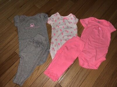 Carters Child of Mine Baby Girl 5 Piece Lot 3-6Months