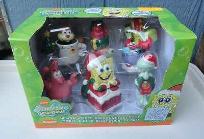 NIB SPONGE BOB ORNAMENTS PATRICK SQUIDWARD MR.KRAB CHRISTMAS Kurt S. Adler  6 pc
