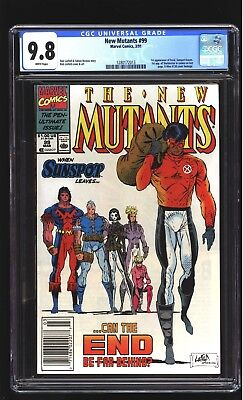 New Mutants 99 CGC 9.8 NM/MINT 1st Shatterstar Feral Rob Liefeld cover Marvel