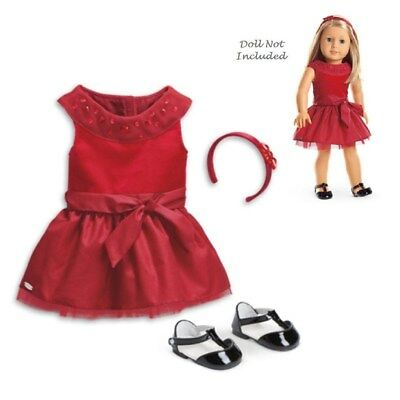 "American Girl Truly me Joyful Jewels Outfit for 18"" Dolls Red Dress"