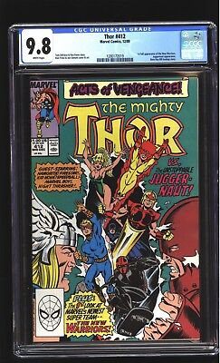 Thor 412 CGC 9.8 NM/MINT 1st app New Warriors Beta Ray Bill story Marvel 1989