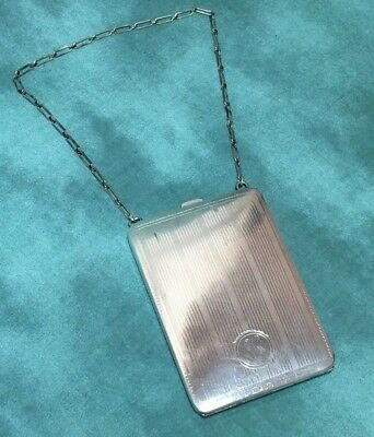 """Antique Silver Ladies Coin Purse, EAM, Made in USA, Monogrammed """"H"""""""