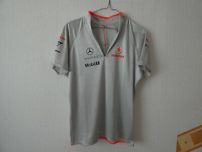 McLaren Vodafone Official Team Wear F1 Santander T-Shirt L Damen SAP Mobil1 OVP