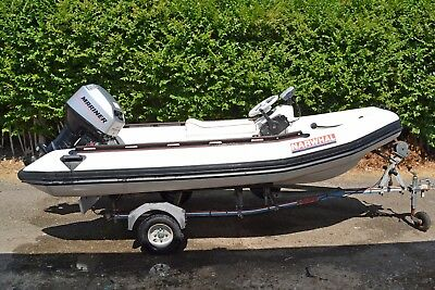 Narwhal 360 Rib boat, 40hp Mariner Outboard, Snipe Trailer, all ready to go
