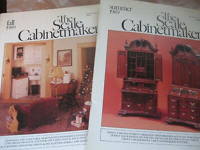 Two Issues Scale Cabinetmaker: Summer 1989 and Fall 1989
