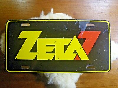 Vintage Orlando, Florida  ZETA 7 Radio Station License Plate Tag