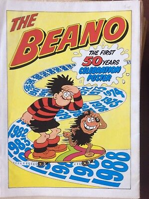 Box L The Beano Celebration Poster The First 50 Years
