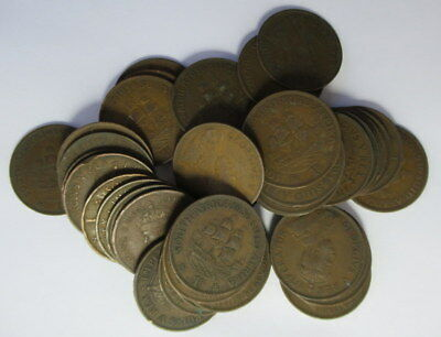 *Bulk Buy* 40 x  South Africa George V Penny's from 1923 to 1936   #E7