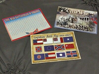 Civil War Postcard Pack Of 3