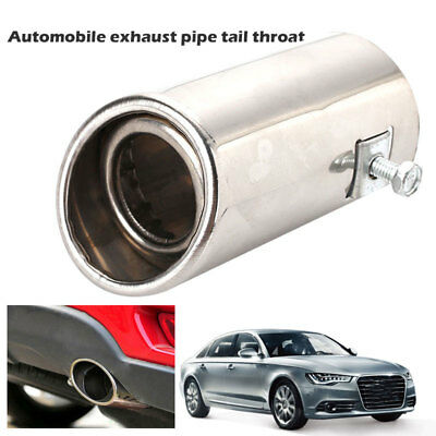 Stainless Steel Car Exhaust Tail Muffler Tip Fits Pipe Diameter 1 1