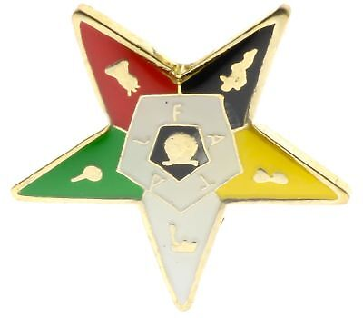 OES Order of the Eastern Star Cutout 1 inch Hat or Lapel pin AK812D118