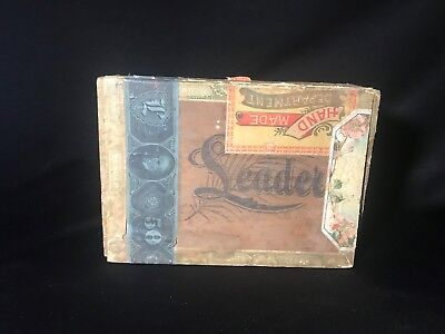 Antique pre 1935 Colorado Maduro Smith & Co., Denver Col. Wooden Cigar Box