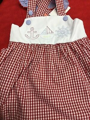5T vintage embroidery stitch nautical theme Red White Blue sundress