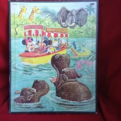 1969's Disney characters in boat frame tray puzzle.  Adventurelan, Whitman