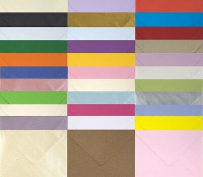 "C6 Coloured Envelopes 114x162 4x6"" For Greeting Cards Wedding Invitations Crafts"