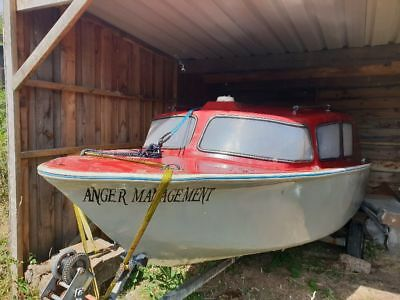 Boat, 16ft River boat, fishing boat, boat with trailer