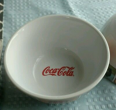 "Gibson Coca-Cola ~ 1 Piece Cereal Bowl ~ Good Ol' Days ~ 6"" Bowl ~ Used"