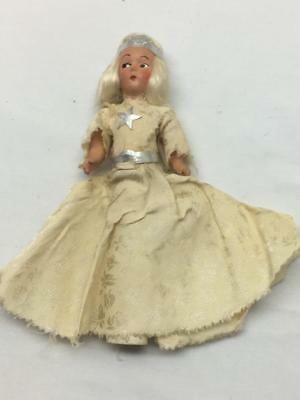 Antique Feather Tree Tree Topper Composition Doll Vintage Christmas