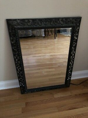 Large Black Metal Frame Mirror 25 3/4 By 35 3/4 Local Pickup Chicago