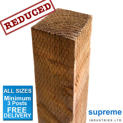 FENCE POSTS TREATED - 3x3 & 4x4 / 1.8m 2.4m 3.0m / FREE DELIVERY
