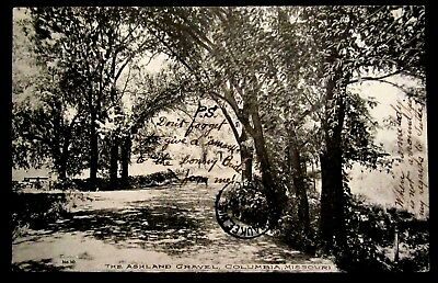 COLUMBIA, MO, The Ashland, Tree shaded Gravel Road, Missouri 1910