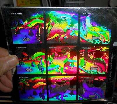 Dinosaur FIlm Holograms Sheet 1984 Canada