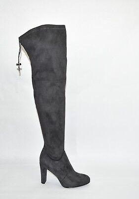 678182b59 NEW! SAM EDELMAN  Kent  Size 8 Over-the-Knee Black Suede Boots OTK ...