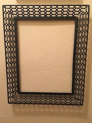 RARE HARD TO FIND Mid Century Modern Mesh Black Metal Art Frame