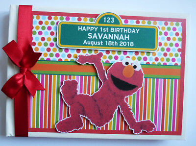 Elmo Birthday Guest Book - Any Design