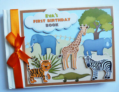 Personalised Safari / Jungle Theme Birthday Guest Book - Any Design