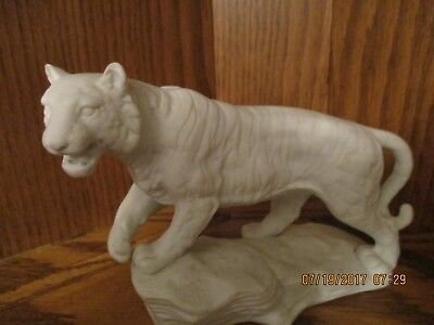 Vintage Porcelain White Tiger 1974-Aldon Accessories - Made in Japan - See Pics
