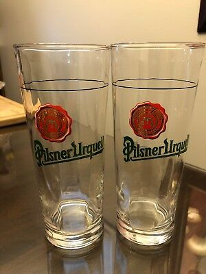 Set 2 Pilsner Urquell Swirl Beer Glasses 20 Oz.