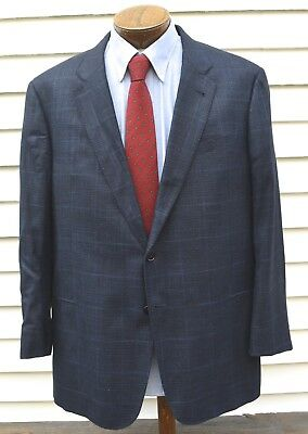 Recent Armani Collezioni Plaid Sport Jacket 46R Italy Exc Condition Side Vents