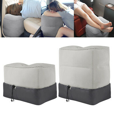 Pad Kids Bed Inflatable Footrest Leg Foot Rest Travel Pillow Portable Airplane
