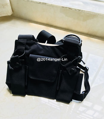 Radio Chest Harness Bag Front Pack Pouch Holster Vest Rig for Two Way Radio