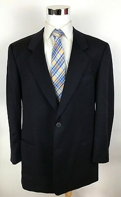 Mani Giorgio Armani Black Classic Fit Metal 2 Button Wool Blazer Sport Coat 44L