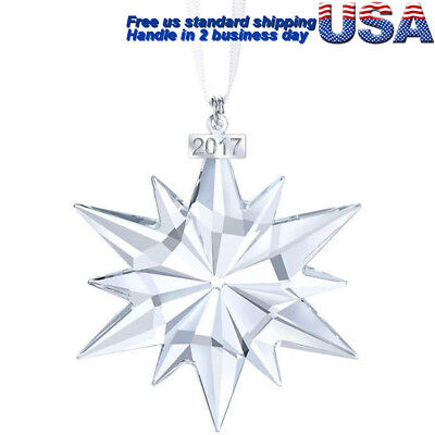 2017 Snowflake ANNUAL EDITION LARGE CHRISTMAS CRYSTAL #5257589 GIFT ORNAMENT
