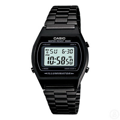 CASIO Vintage Series Black Retro Stopwatch Classic Digital Watch B640WB-1A