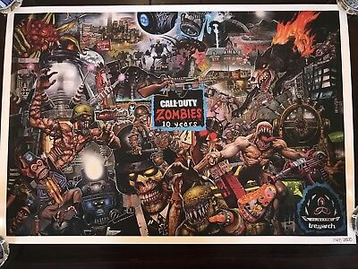 SDCC 2018 Call Of Duty Black Ops 4 Zombies 10th Anniversary Poster Exclusive