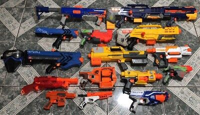 Nerf Gun Lot of (15) Longshot, Raider, Rival,vigilon  And More !!!