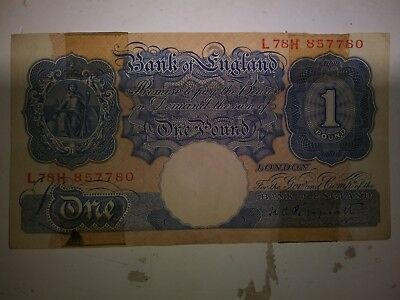 1930's Bank of England 1 pound note