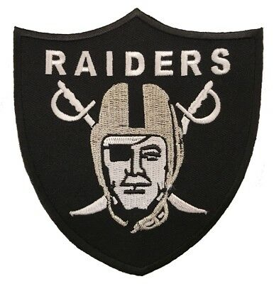"4"" OAKLAND RAIDERS Football Team Iron-on Logo Jersey PATCH - Raider Nation!"