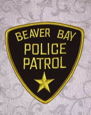 Defunct City of Beaver Bay Minnesota Old Style Police Patch